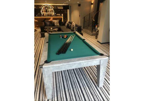 Italian Grey Gatley Classic Diner Pool Dining Table - Elite Pro American Green