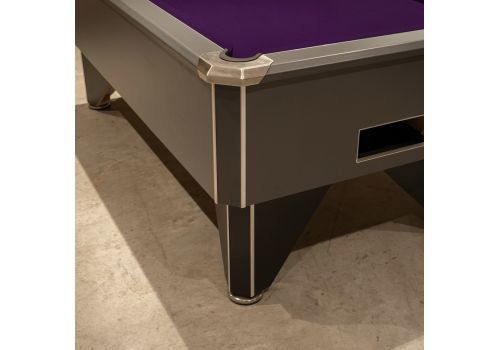 FMF Tournament Pro Satin Grey Slate Bed Pool Table
