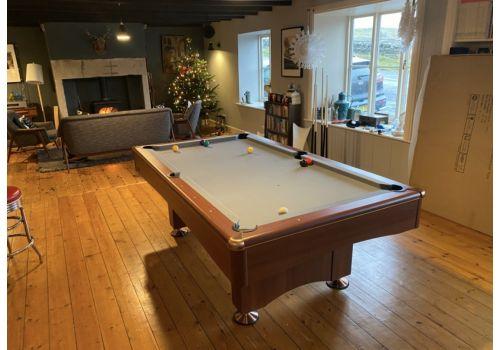 Buffalo   Eliminator 2 (II)   Walnut   American Pool Table   7ft with Elite Pro Bankers Grey