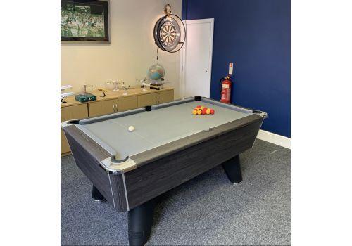 Supreme Winner Rustic Black Pool Table | Strachan Grey