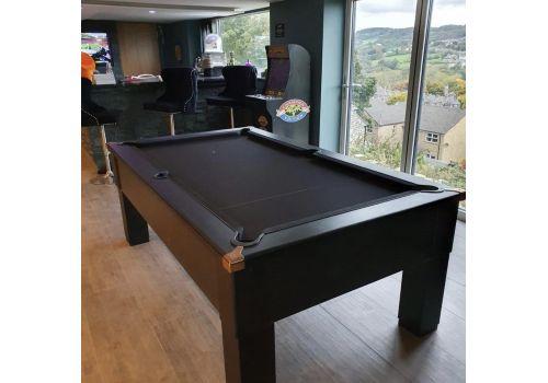 CryWolf Matt Black Square Leg Pool Table with Smart Black
