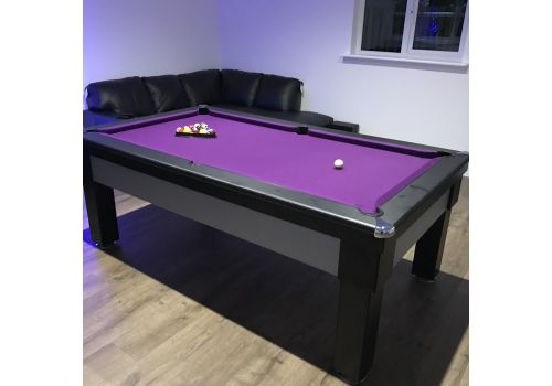 Optima Notre Dame Pool Table with Smart Purple Cloth