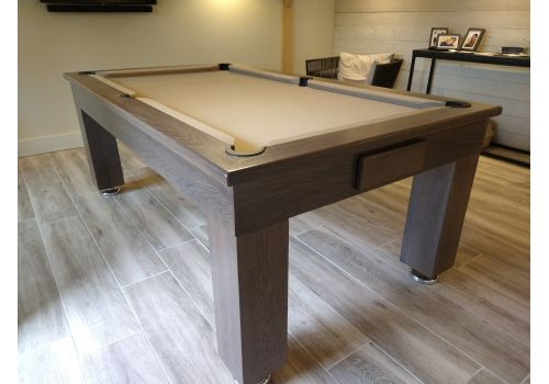 Rex Hardwood | Bonnie Badger | Luxury Slate Pool Dining Table | 6ft & 7ft | Chambord with Taupe