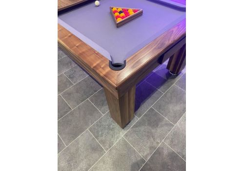 Rex Hardwood | Bonnie Badger | Luxury Slate Pool Dining Table | 6ft & 7ft | Walnut with Silver
