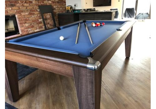 Gatley Classic Diner Pool Table in Dark Walnut with Elite Pro Electric Blue
