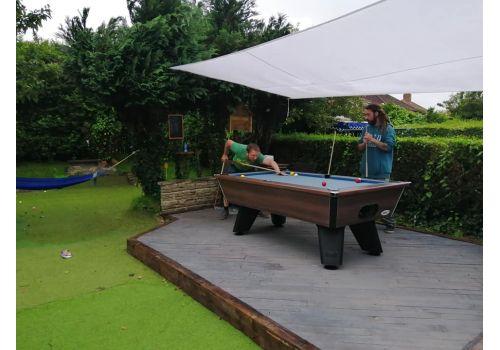 Outdoor Walnut Wolf Dark Walnut Original Tournament Edition Pool Table