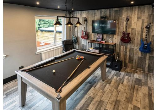 Gatley Classic Diner Pool Table in Driftwood with Smart Black Cloth