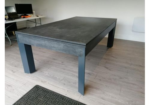 Alberta Luxury Pool Dining Table   6ft & 7ft Sizes   Monaco Grey
