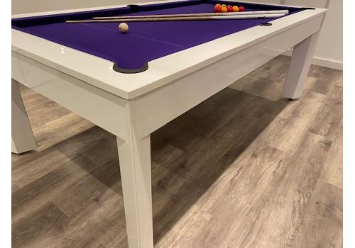 Alberta Luxury Pool Dining Table | 6ft & 7ft Sizes | Gloss White