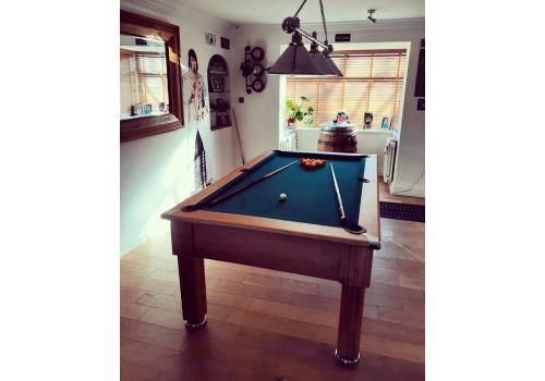 Gatley Traditional Pool Table - Supreme Slimline Prince Pool Table - Oak Ranger Green
