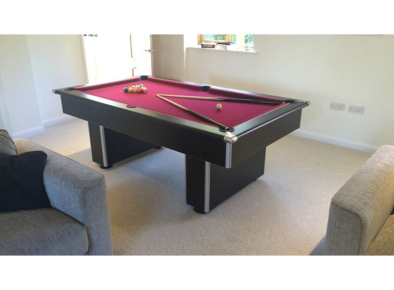 Gatley Black Classic Slimline Slate Pool Table 6ft 7ft Sizes - How To Mark A 6ft Pool Table